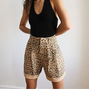 NWT Free People Printed Dogtown Cut Off Shorts